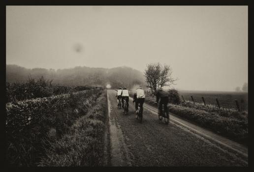 Cyclists. Lyth. Caithness. 2018