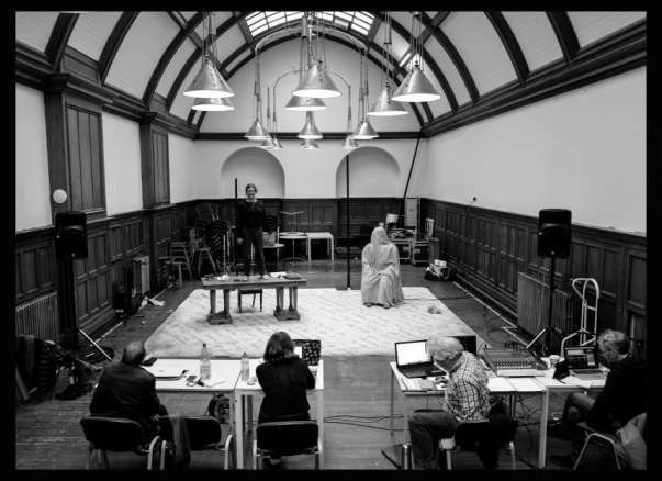 Monster and Mary Shelley Rehearsal