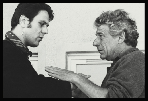 With John Berger on Play Me Something 1989 -photo Jean Mohr